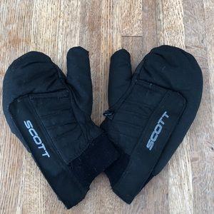 Scott winter ski mittens black EUC little kids